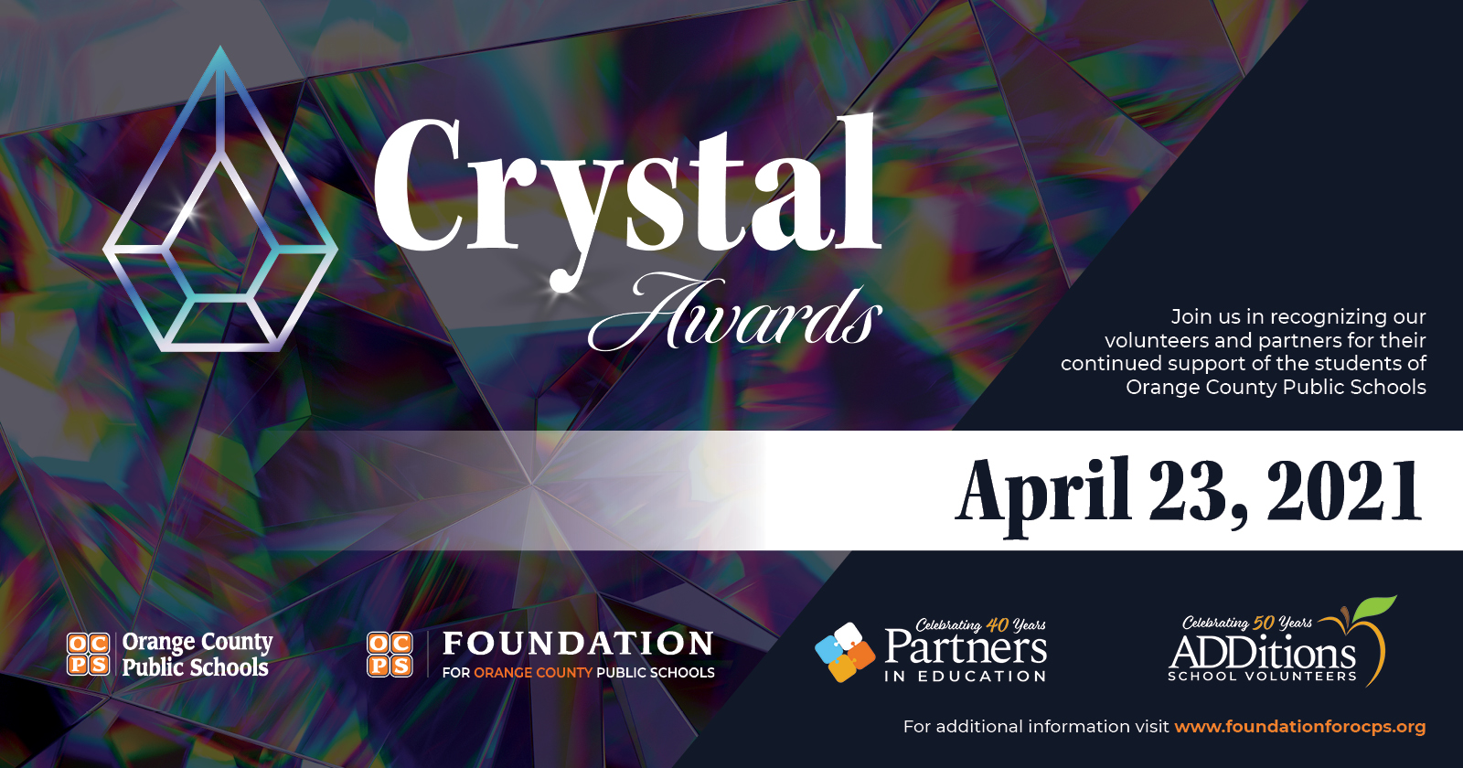 Crystal Awards Join Us invite
